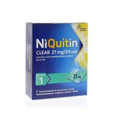 Niquitin Stap clear 21 mg/24 uur (7 stuks)