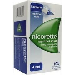 Nicorette Kauwgom 4 mg menthol mint (105 stuks)