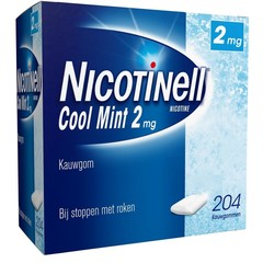 Nicotinell Kauwgom cool mint 2 mg (204 stuks)
