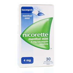 Nicorette Kauwgom 4 mg menthol mint (30 stuks)