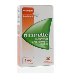 Nicorette Kauwgom 2 mg freshfruit (30 stuks)
