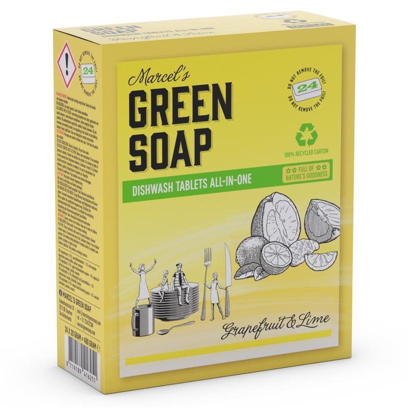 Marcel's GR Soap Marcel's GR Soap Vaatwas tablet grapefruit & limoen (480 gram)