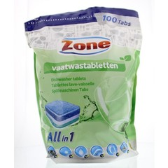 Zone Vaatwastablet all-in-one (100 stuks)