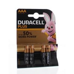 Duracell Plus power AAA (4 stuks)