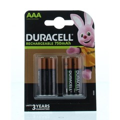 Duracell Rechargeable AAA 750 mAh (4 stuks)