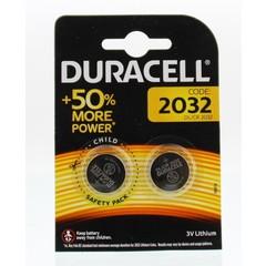 Duracell Batterij dl/ 2032 cl/ 2032 3v litium (2 stuks)