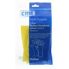 CMT Huishoudhandschoen rubber geel M (1 paar)