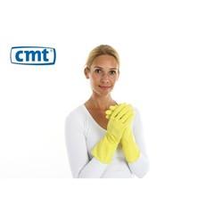 CMT Huishoudhandschoen rubber geel L (1 paar)
