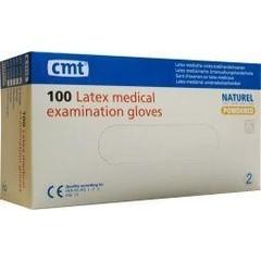 CMT Onderzoekshandschoen latex naturel gepoederd XS (100 stuks)