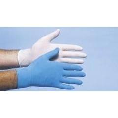 CMT Onderzoekshandschoen latex blauw gepoederd S (100 stuks)
