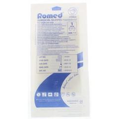 Romed Operatiehandschoen steriel gepoederd 7.5 (1 paar)
