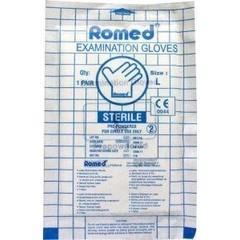 Romed Latex handschoen steriel L (1 paar)