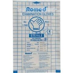 Romed Latex handschoen steriel M (1 paar)