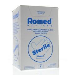 Romed Onderzoekhandschoen steriel copolymeer S (100 stuks)