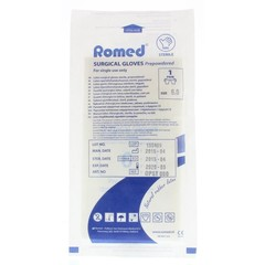 Romed Operatiehandschoen steriel gepoederd 6 (1 paar)