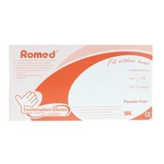 Romed Latex handschoen niet steriel poedervrij XS (100 stuks)