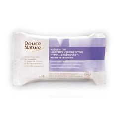 Douce Nature Intieme hygienische doekjes bio katoen (15 stuks)