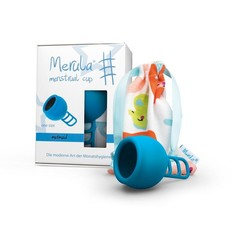 Merula Menstruatiecup mermaid blauw (1 stuks)