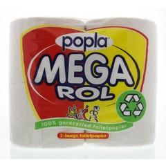 Popla Toiletpapier megarol 400 vel (4 rollen)