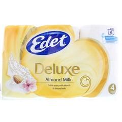 Edet Toiletpapier 4 laags almond milk (6 rollen)