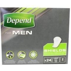 Depend Shields for men (24 stuks)