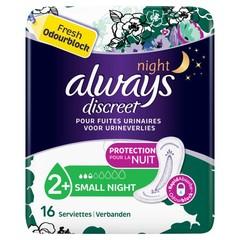 Always Discreet maandverband small night (16 stuks)