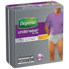 Depend Pants men max L/XL 1986 (9 stuks)