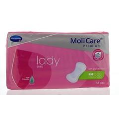 Molicare Lady pad soft & discreet 2 druppels (14 stuks)