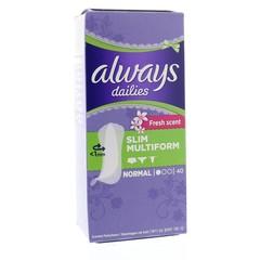 Always Multiform fresh scent liner (40 stuks)