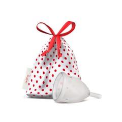 Ladycup Menstruatie cup transparant maat S 40 mm (1 stuks)