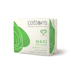 Cottons Maandverband maxi regular (10 stuks)