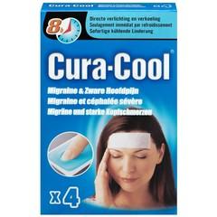 Be Cool Cura-cool migraine strips (4 stuks)