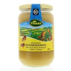 Traay Bloemenhoning creme bio (900 gram)