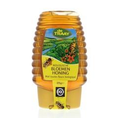 Traay Bloemenhoning knijpfles bio (375 gram)