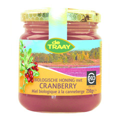 Traay Cranberry honing bio (250 gram)