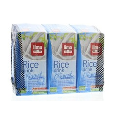 Lima Rice drink original pakjes 200 ml (3 stuks)
