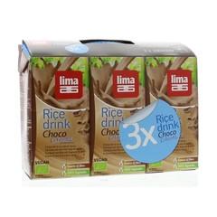 Lima Rice drink choco calcium 200 ml (3 stuks)