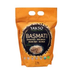 Yakso Basmati rijst bruin (1 kilogram)