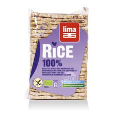 Lima Rijstwafels zonder zout dun recht (130 gram)