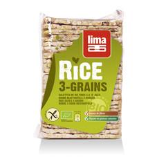 Lima Rijstwafels recht dun 3 granen (130 gram)