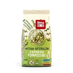 Lima Porridge express matcha spirulina (350 gram)