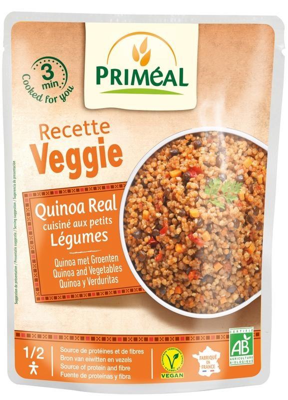Primeal Recette Veggie Quinoa gekookt met groente (220 gram)