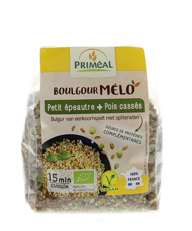 Primeal Primeal Boulgour spelt klein met spliterwten (330 gram)