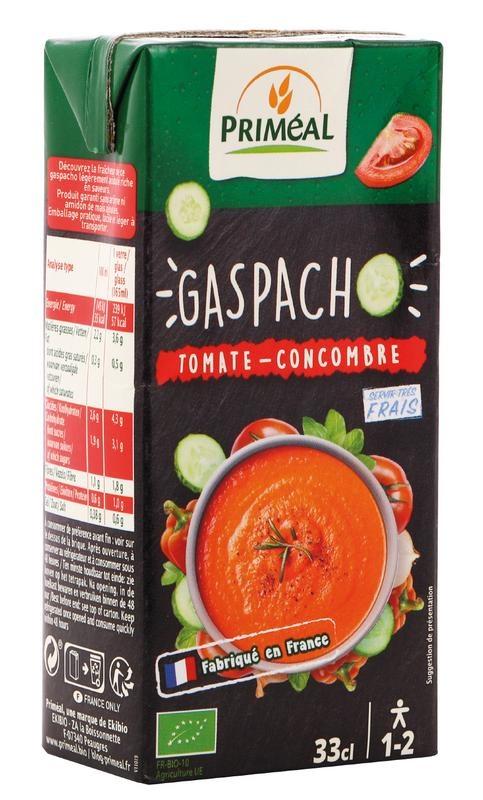 Primeal Primeal Gaspacho tomaat komkommer (330 ml)