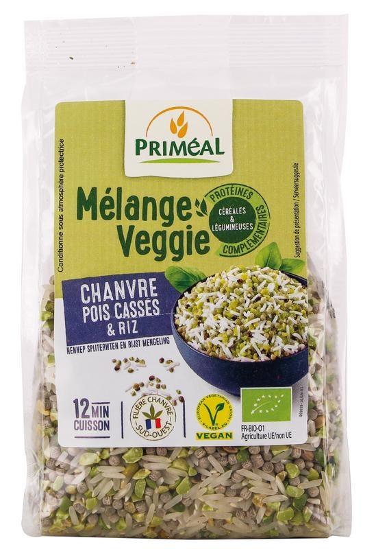 Primeal Primeal Hennep spliterwt rijst veggiemix (300 gram)