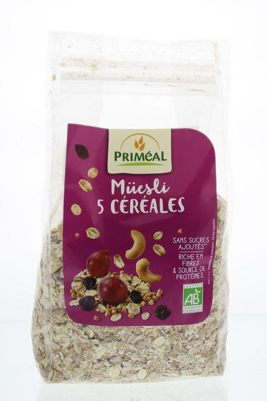 Primeal Primeal Muesli met 5 granen (500 gram)