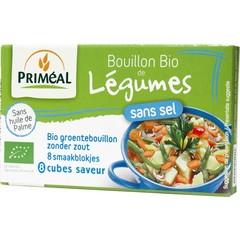 Primeal Groentebouillon blokjes zonder zout 9 gram (8 stuks)