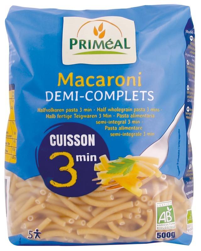 Primeal Primeal Macaroni halfvolkoren snelkook 3 minuten (500 gram)