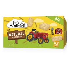 Farm Brothers Kids cookies naturel 6x uitdeelzakje (102 gram)