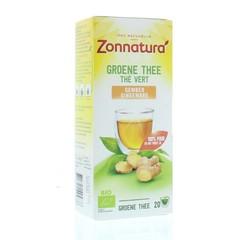 Zonnatura Groene Thee Gember (34 gram)